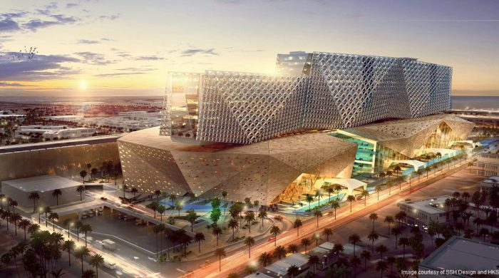 Render of Kuwait children's hospital example of a smart hospital in the Middle East