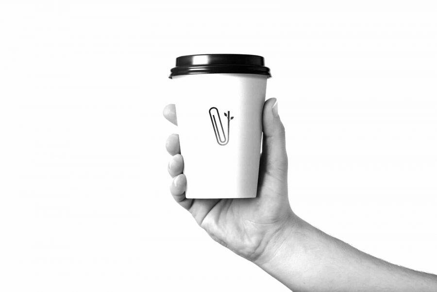 coffee cup being held