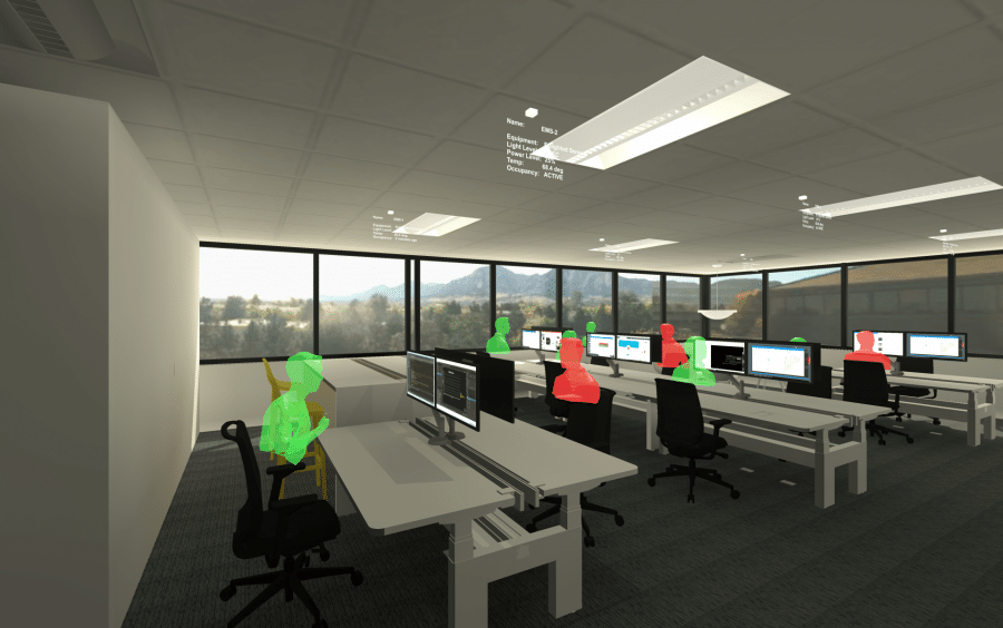 WSP Colorado innovation centre - visualising data from its workplace multisensors