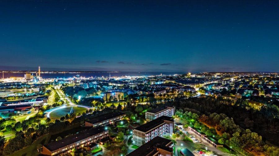 Aerial view of Helsinborg